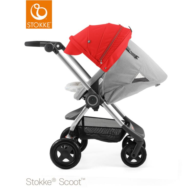 Image Stokke® Scoot™ Grey Melange - Red