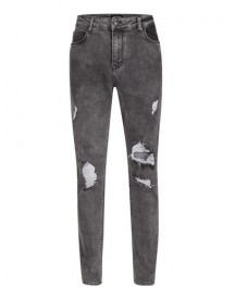 Antioch Washed Black Ripped Stretch Skinny Jeans* afbeelding