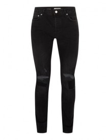 Black Ripped Stretch Skinny Jeans afbeelding