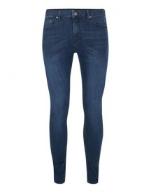 Dark Wash Blue Spray On Skinny Jeans afbeelding