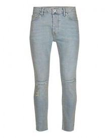 Light Blue Ripped Stretch Skinny Jeans afbeelding