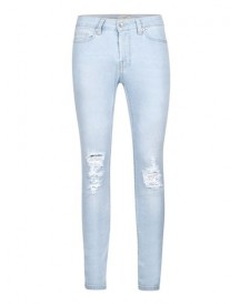 Light Wash Blue Ripped Spray On Skinny Jeans afbeelding