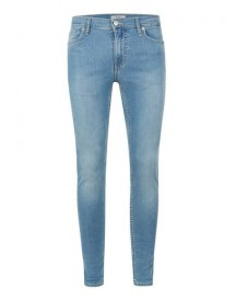 Light Wash Blue Spray On Skinny Jeans afbeelding