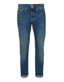 Mid Blue Vintage Wash Stretch Skinny Jeans afbeelding