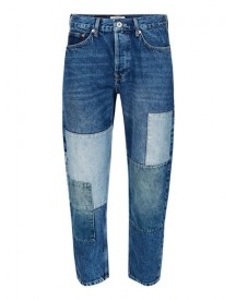 Mid Blue Wash Patch Original Fit Jeans afbeelding