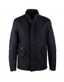 Barbour Quilted Jas Powell Navy afbeelding