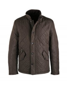 Barbour Quilted Jas Powell Olijf afbeelding
