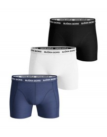 Bjorn Borg Boxers Solid Stretch 3 Pack Blue Depths afbeelding