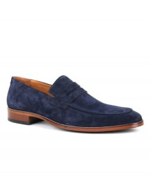 Suitable Loafer Suede Navy afbeelding