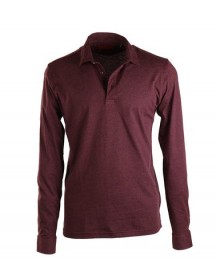 Suitable Stretch Longsleeve Polo Bordeaux afbeelding