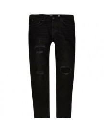 Ri Big And Tall - Dylan - Zwarte Ripped Jeans afbeelding
