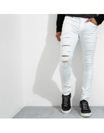 Danny - Witte Ripped Superskinny Jeans afbeelding