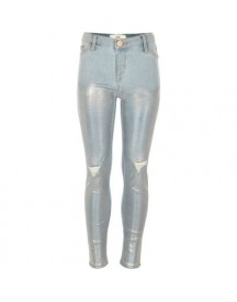 Molly - Lichtblauwe Ripped Jegging Met Folie afbeelding