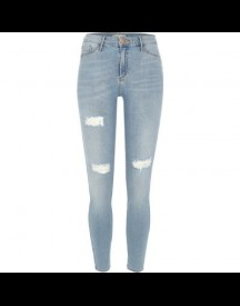 Molly Light Blue Wash Ripped Jegging afbeelding