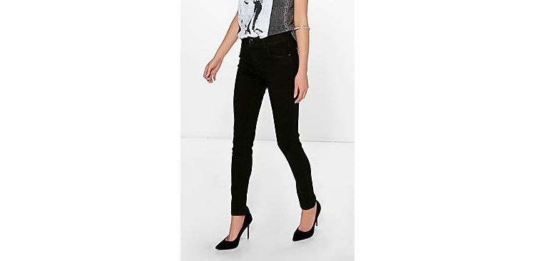 Image Emily Mid Rise Skinny Jeans