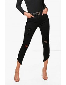 Casey Cut Off Hem Distressed Skinny Jeans afbeelding