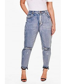 Plus Alicia Ripped Light Wash Skinny Jean afbeelding