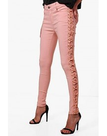 Selma Side Lace Up Skinny Jeans afbeelding