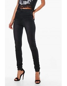 Tall Lara Washed Black High Waisted Jeans afbeelding