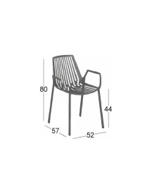 Rion Armchair - Zilver - Fast afbeelding