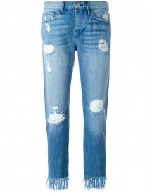 3x1 - Frayed Cropped Jeans - Women - Cotton - 27 afbeelding