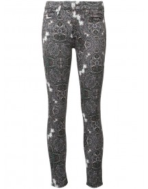 7 For All Mankind - Abstract Print Skinny Jeans - Women - Cotton/spandex/elastane - 28 afbeelding