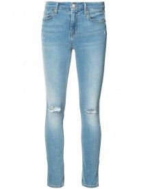 7 For All Mankind - Distressed Skinny Jeans - Women - Cotton/polyester/spandex/elastane - 29 afbeelding