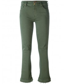 7 For All Mankind - Flared Cropped Jeans - Women - Cotton/polyester/spandex/elastane - 28 afbeelding