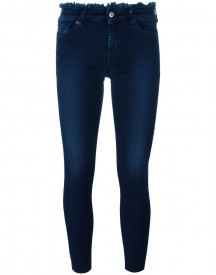 7 For All Mankind - Frayed Trim Skinny Jeans - Women - Cotton/polyester/spandex/elastane/viscose - 29 afbeelding