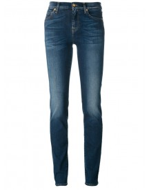 7 For All Mankind - Light-wash Skinny Jeans - Women - Cotton/polyester/spandex/elastane/lyocell - 28 afbeelding