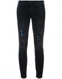 7 For All Mankind - Sequined Skinny Jeans - Women - Cotton/spandex/elastane - 30 afbeelding
