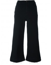 7 For All Mankind - Wide Leg Cropped Jeans - Women - Cotton/polyester/spandex/elastane - 27 afbeelding