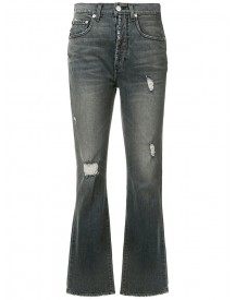 Adaptation - Ripped Cropped Bootcut Jeans - Women - Cotton/acetate - 28 afbeelding