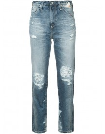 Ag Jeans - Distressed High-rise Jeans - Women - Cotton - 26 afbeelding