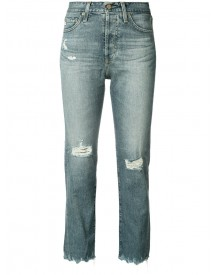 Ag Jeans - High-rise Cropped Jeans - Women - Cotton/polyurethane - 28 afbeelding
