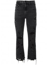 Alexander Wang - Distressed Cropped Jeans - Women - Cotton - 25 afbeelding