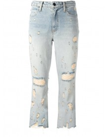 Alexander Wang - Distressed Cropped Jeans - Women - Cotton - 30 afbeelding