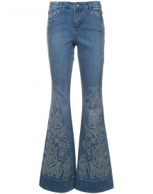 Alice+olivia - Studded Detail Flared Jeans - Women - Cotton/spandex/elastane - 30 afbeelding