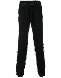 Andrea Crews - Frayed Trousers - Men - Cotton - L afbeelding