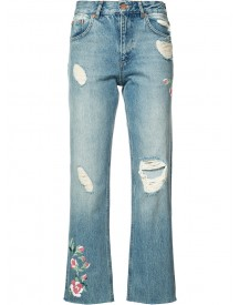 Anine Bing - Distressed Cropped Jeans - Women - Cotton - 29 afbeelding