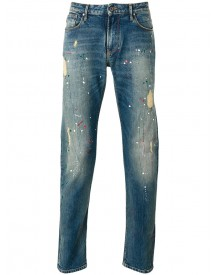 Armani Jeans - Distressed Paint Splatter Jeans - Men - Cotton/spandex/elastane - 29 afbeelding