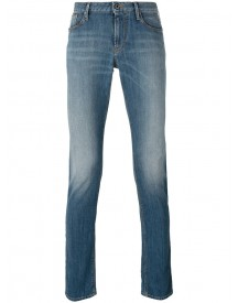 Armani Jeans - Folded Hem Slim-fit Jeans - Men - Cotton/spandex/elastane - 32 afbeelding
