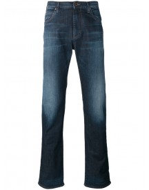 Armani Jeans - Washed Straight Jeans - Men - Cotton/spandex/elastane - 32 afbeelding