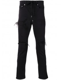 Attachment - Ripped Skinny Jeans - Men - Cotton/polyurethane - I afbeelding