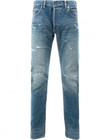 Balmain - Destroyed Stone Washed Jeans - Men - Cotton - 33 afbeelding