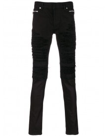 Balmain - Distressed Biker Jeans - Men - Cotton/polyurethane - 29 afbeelding