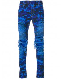 Balmain - Distressed Camouflage Jeans - Men - Cotton/polyurethane - 32 afbeelding