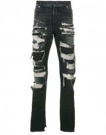 Balmain - Distressed Jeans - Men - Cotton/python Skin/polyester - 32 afbeelding