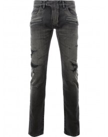 Balmain - Distressed Skinny Jeans - Men - Cotton/polyurethane - 36 afbeelding