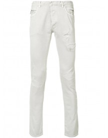 Balmain - Distressed Slim Jeans - Men - Cotton/polyurethane - 37 afbeelding